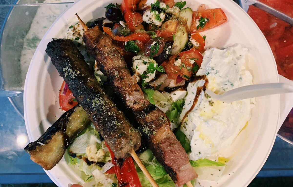 Image of Greek Food from a Greek Food Trader at Rewind Festival 2019