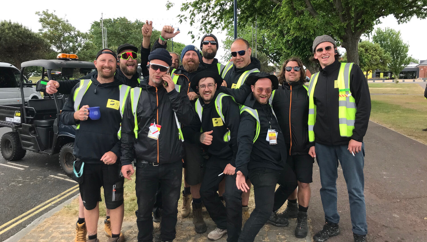 Site Crew Team Photo, D-Day 75 Commemorative Event, 2019 - Site Crew Supplied by Victorious Events