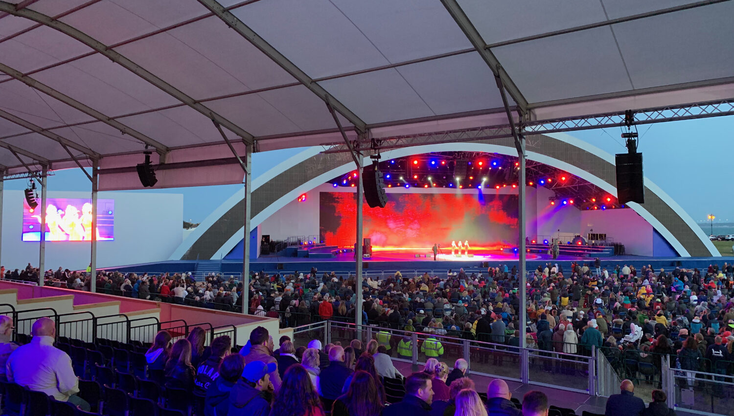 D-Day 75 Commemorative Event, stage and viewing, 2019