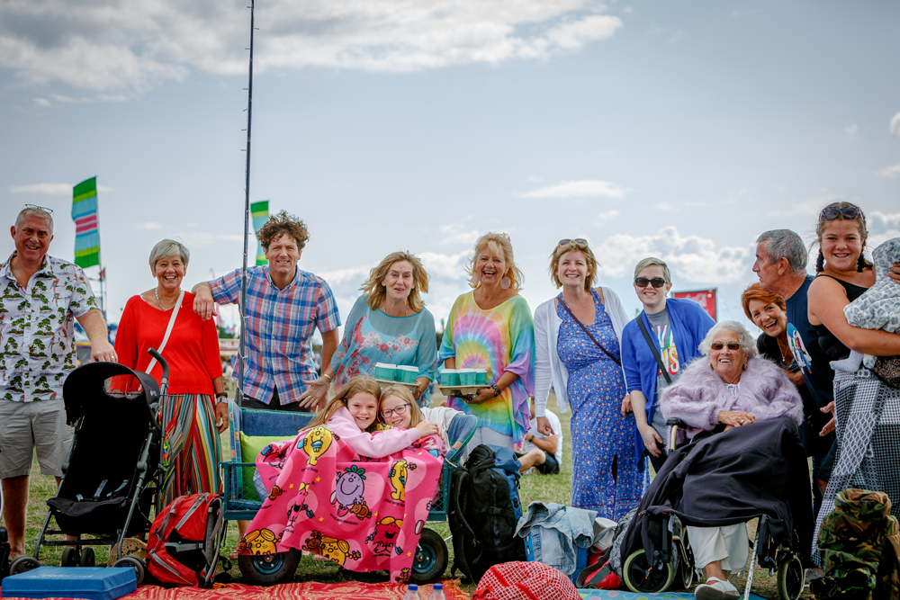 A family of all ages enjoying Victorious Festival, 2018